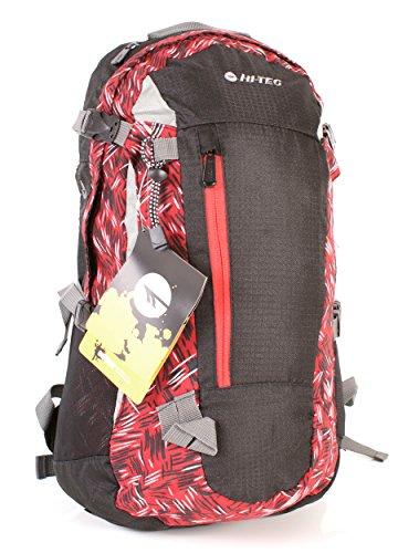 Hi-Tec villy (25 L Sac à dos de randonnée sac à dos de voyage Red-Black moyen