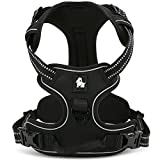 fiE FIT INTO EVERYWAY Range Of Front Side No Pull Dog Harness Outdoor Adventure 3M Reflective Pet Vest with Handle Adjustable Protective Nylon Walking Pet Harness Black S
