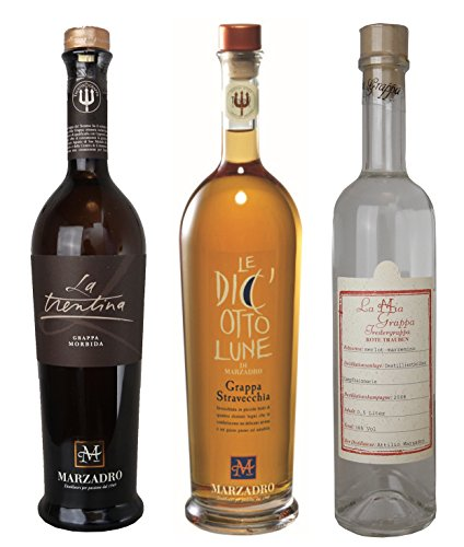 Marzadro Highlights Probierset Grappa (3 x 0.5 l)