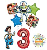 Mayflower Toy Story Party Supplies Woody, Buzz Lightyear and Friends 3rd Birthday Balloon Bouquet Decorations