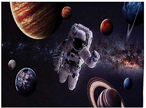 Rompecabezas del espacio exterior para adultos, 500 piezas, astronauta entre planetas, Marte, Neptuno, Júpiter, plasma, esfera etérea, imagen, multicolor