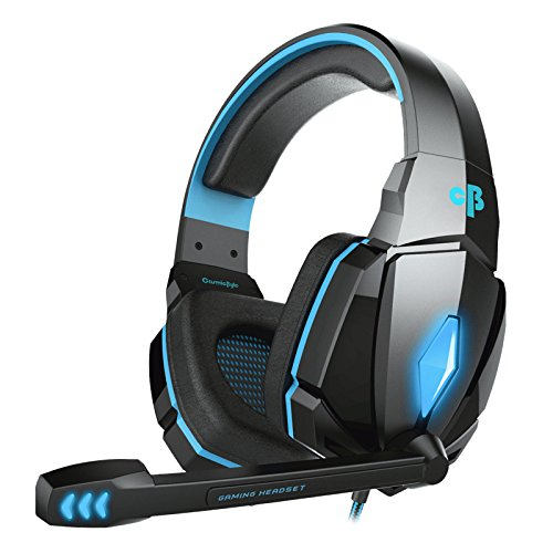 Cosmic Byte Over the Ear Wired Headsets with Mic & LED - G4000 Edition (Blue, Pack Of 1)