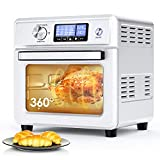 Air Fryer Oven, ICETEK 16-in-1 Air Fryer Toaster Oven Combo, Large Convection Oven Pizza Oven Dehydrator Stainless Steel with Digital Temperature Control, 9 Accessories & Cookbook (21QT/20L 1800W)