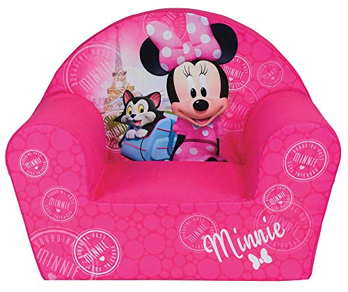 Fun House Disney miinie Paris Sessel für Kinder, Bezug Polyester/Schaumstoff Polyether, 52 x 33 x 42 cm