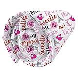 CTI Drap Housse Imprimé Univers Miraculous Marinette Enfant, Coton, Rouge, 190x90 cm