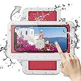 Porta telefono doccia, custodia per telefono montata a parete, touch screen da bagno impermeabile portacellulare girevole a 360 °, alta sensibilità HD per telefoni sotto i 7 pollici