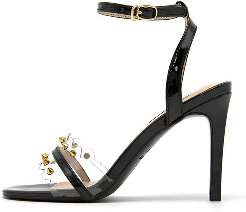 CYBLING Women's High Heel Sandals Open Toe Buckle Ankle Strap Slingback Stilettos Heels Sexy shoes
