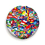 Sunwd Ersatzradabdeckungen, Collection World Flags On White Isolated s Clip Art Flag Signs Symbols Universal Black
