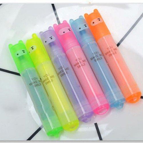 dljztrade 6 stuks markeerstiften mini 6 kleuren fluorescerende markeerstiften studenten geschenk kantoorbenodigdheden multi