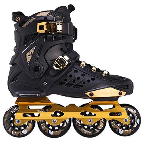 XJBHD Pattini in Linea per Adulti Carbonio Rollerblade Professionale Pattini a Rotelle Pattini Comodi Scarpe Speed Skating Ldeali per Principianti per Le Donne e Uomo Sport Outdoor 39
