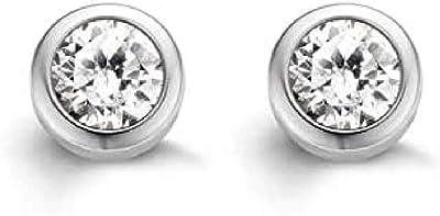 Ti Sento - Boucles d'oreilles - Argent plaqué rhodium 925 - Oxyde de Zirconium - 7597ZI