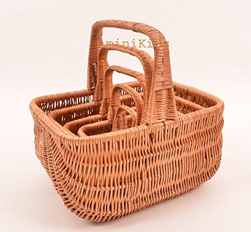 Cesta de mimbre neerlandés cesta, cesta de Pascua Juego De Trabajo De Mano 5