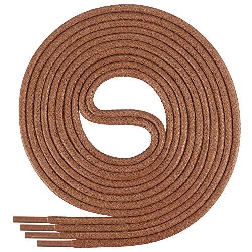 Di Ficchiano-SW-03-ginger-80 gewachste runde Schnürsenkel, Schuband, Laces, Durchmesser 2-4 mm für Businessschuhe, Anzugschuhe und Lederschuhe