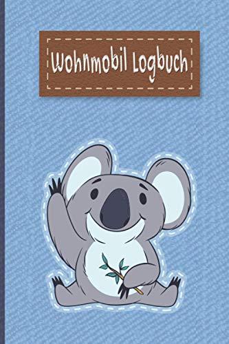 Wohnmobil Logbuch: Liebevoll gestaltetes Wohnmobil Camping Logbuch Reisetagebuch - Für Camper ein schönes Tagebuch Journal Caravan Notizbuch Erlebnisbuch / Panda Bär Jeans