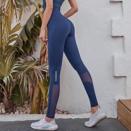 Panty's Power Stretch Sportbroeken,Dames Fitness Naadloze Leggings,Gym Hoge Taille Yogabroek Sportkleding-B-Blue_M,Yogapak Sportkleding Workout Gymkleding