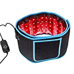 Red & Infrared Light Therapy Belt for Pain Relief Home Use Flexible Wearable Wrap Deep Therapy Massager Device for Back Shoulder Joints Muscle Therapy (Blue)