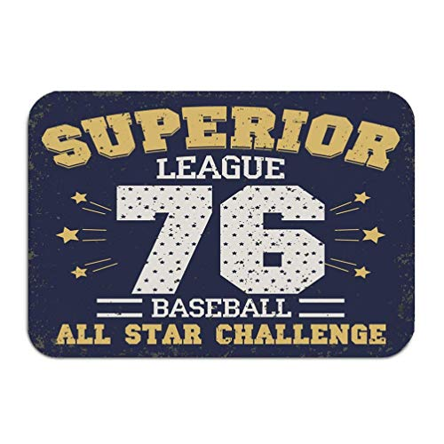 Outside Shoe Non-slip Color Dot Doormat baseball graphic design all stars championship...