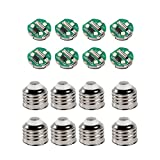 LET'S RESIN Light Bulb Molds Accessories Kit, 8 PCS LED Chips Base+8 PCS Caps for Bulb Silicone Molds, Perfect for Party Wedding Home/Wall Decor