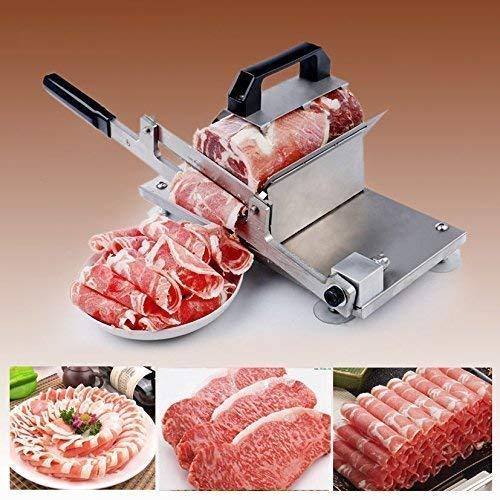 手動ミートスライサー 業務用 家庭用 冷凍肉スライス 卓上型 ステンレス鋼