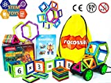 "Magnetic Blocks Educational Building Set and Magnetic STEM toy Shapes ""GIFT BOX"" (54PCS)"