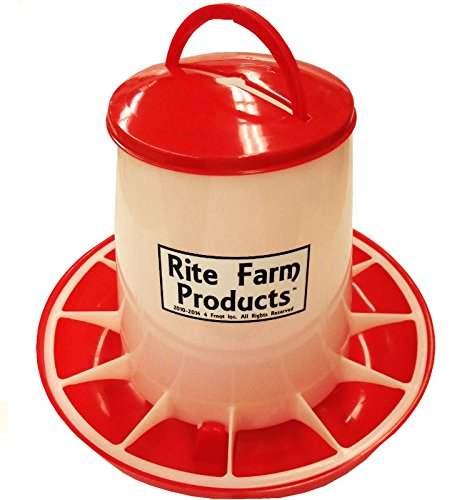 Rite Farm Products Large HD 13.2 Pound Chicken Feeder LID & Handle Poultry Chick