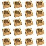 20 pcs boîte à cupcakes en papier kraft boîtes de boulangerie marron boîtes à biscuits pour cupcake