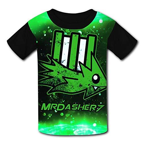 Cute Geo-me-Try Da-sh Unisex Kids T-Shirts 3D Printed Fashion Youth T Shirt Tees for Boys Girls Black