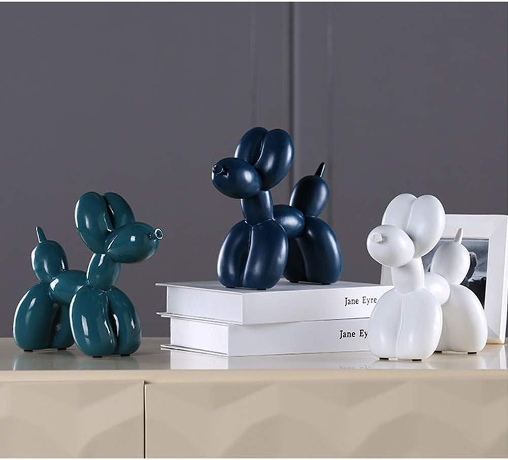 Yangyang Ballon Dog Statue R/ésine Abstraite Sculptures de Chien Statue Figurine Animal D/écoration Collection Ornements Jouets pour Enfants Cadeau,Bleu