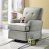 Baby Relax Tinsley Swivel Glider Chair, Nursery Room Furniture, Gray