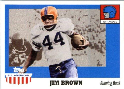 2005 Topps All-American Football Card #25 Jim Brown ENCASED