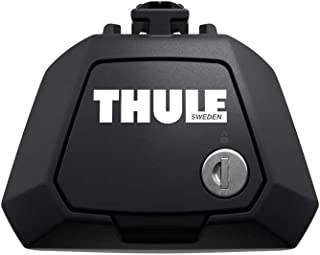 Thule 710400 Roof Racks, Evo Raised Rail, Black, Set of 4