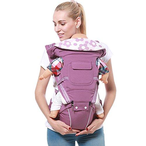 Ykzzldx Portabebés multifunción transpirable 4 en 1 mochila de honda de los niños frente a la recién nacida Cradle Pouch Wrap bebé canguro