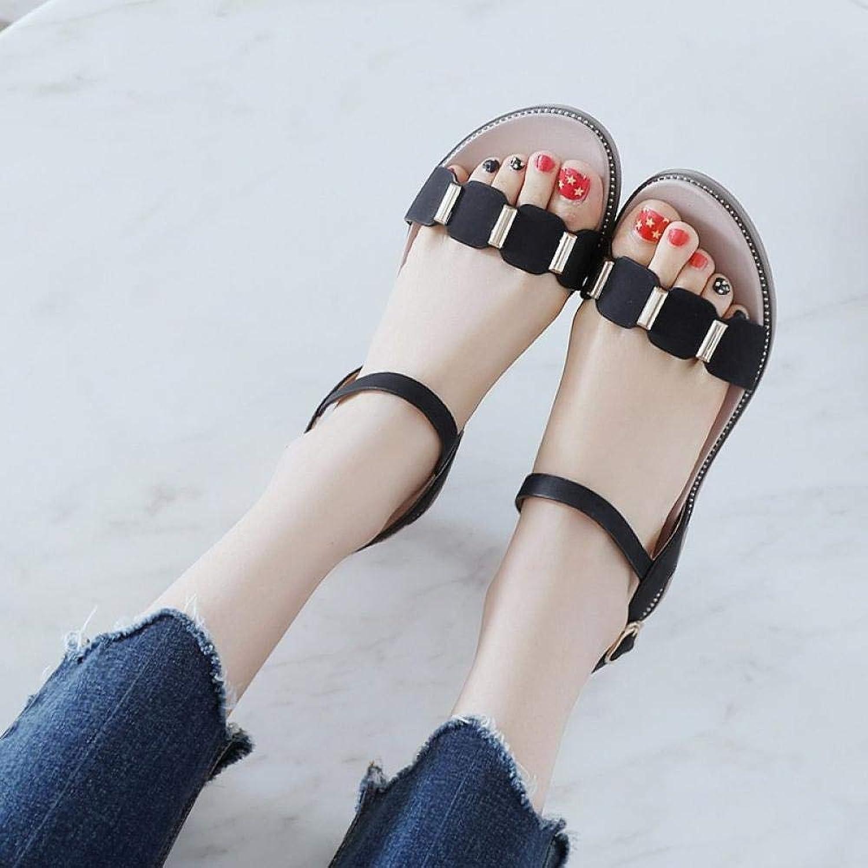 NIGHT WALL Damen Flach Sandalen,Flache Schnalle mit farblich abgestimmten Metall-Ziersandalen,Duschpantoffeln Slide Sandals,Outdoor Indoor, Frauen
