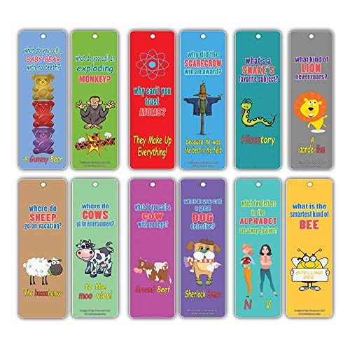 Bookmarks Cards For Kids (60 Pack)- Hilariously Silly Jokes Series 2- Funny and Hilarious Learning Pack - Excellent Party Favors Teacher Classroom Reading Rewards and Incentive Gifts for Young Readers
