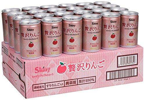 シャイニー 贅沢りんご 160g×24本 缶