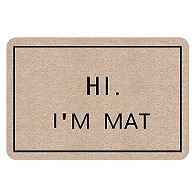 NINNAYUAN Hi I'm Mat_ lovely outdoor/indoor doormat(23.6x15.7 inch) (natural color)