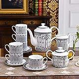 GYC Tea Cups And Saucers Coffee Sets Bone China High-End European Tea Sets Creative Afternoon Tea Sets Teapot And Cups Set Home Decorations-Set Of Fifteen
