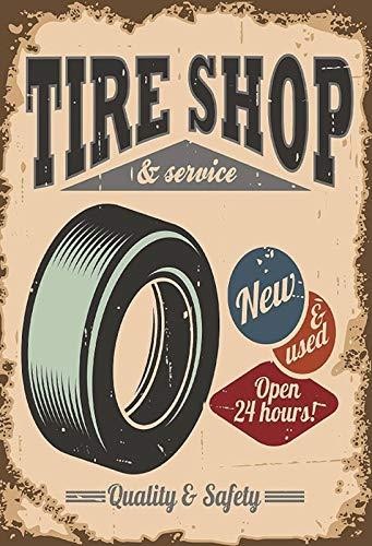 NWFS FS Reklame banden Tire Shop bandenladen metalen bord bord metalen plaat plaat Metal Tin Sign gewelfd gelakt 20 x 30 cm
