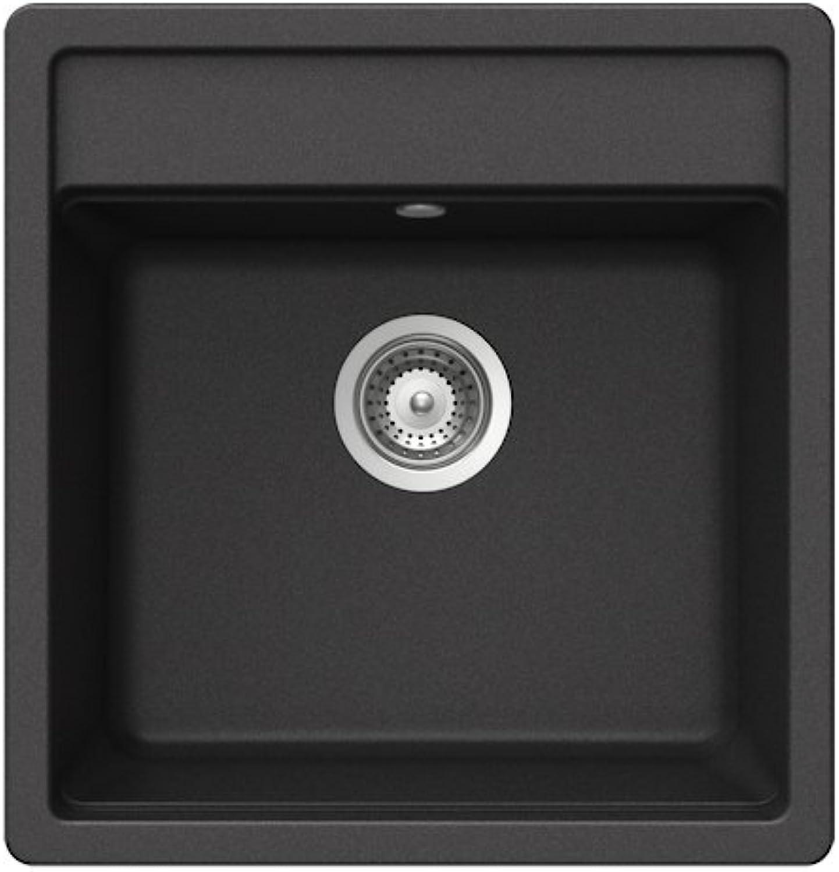 Teka 40144573 Granite Kitchen Sink with a Single Bowl, Metallic Onyks