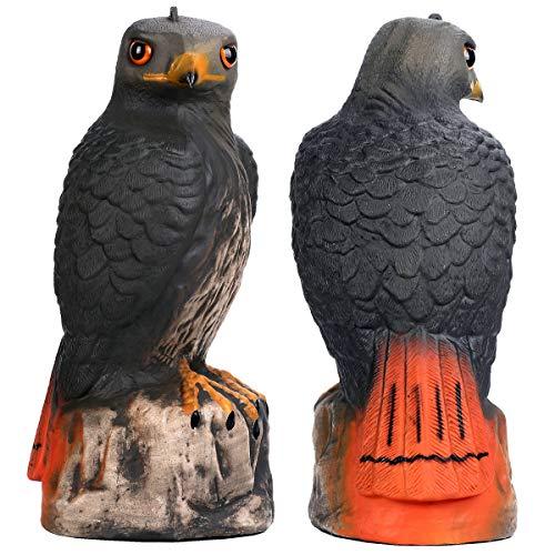 Frofine Halcón Águila de Jardín Águila de plástico Estatua águila Ahuyentador de Pajaros Espantapajaros Jardin Esculturas de Pájaro Paloma Control plagas de jardín Adorno Jardín Repelente de pájaros