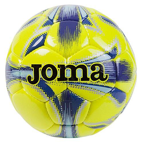 """Joma - Pallone da Calcio """"Dali"""", Giallo Fluorescente e Blu Navy T5"""