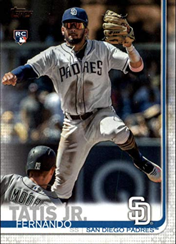 2019 Topps Factory Complete Sets Retail Variation #410 Fernando Tatis Jr. SP RC Rookie Card San Diego Padres Turning Double Play Limited Print Run Exclusive to Retail Baseball Factory Sets