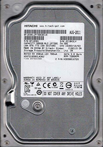 Hitachi HDS721050CLA362 P/N: 0F10381 500GB MLC: JPT50E