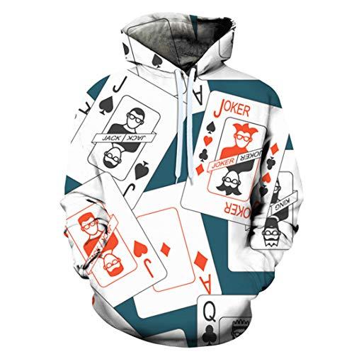 Impresión 3D Juego de Cartas Sudadera Jumper Unisex Invierno Verano Abrigo Streetwear Gym Jogger Hoodies W6036 XXXL