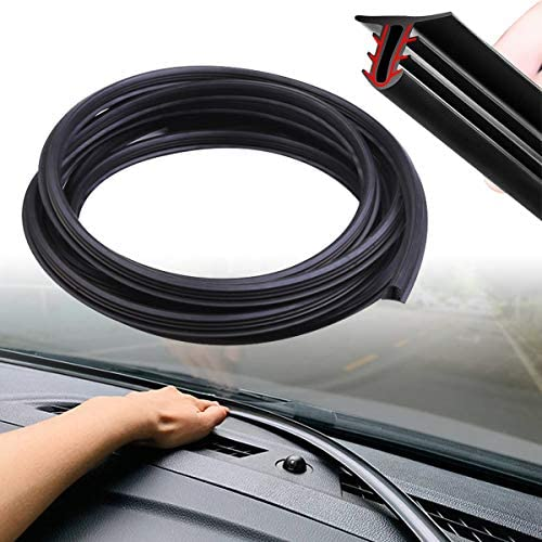 Super Drive 6FT 1 8M Black Auto Windshield Dashboard Rubber Seal Strip Edge Trim Rubber Seal product image