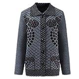 La primavera y el otoño de punto chaqueta de punto suéter de la capa de un solo pecho suelto de manga larga suéter abrigo
