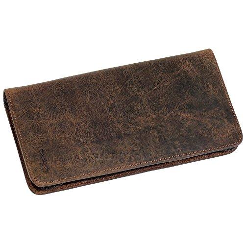 Geschenkset - Greenland Nature Reiseorganizer Brieftasche Bordkartenetui Leder 12,5cm Montana