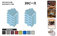 エースパンチ 新しい 20ピースセットライトブルー 250 x 250 x 30 mm エッグクレート 東京防音 ポリウレタン 吸音材 アコースティックフォーム AP1052