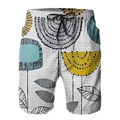 mengmeng Forma de estudio tallos de natación de los hombres de los troncos de la tabla pantalones cortos de playa pantalones de natación surf Boardshorts
