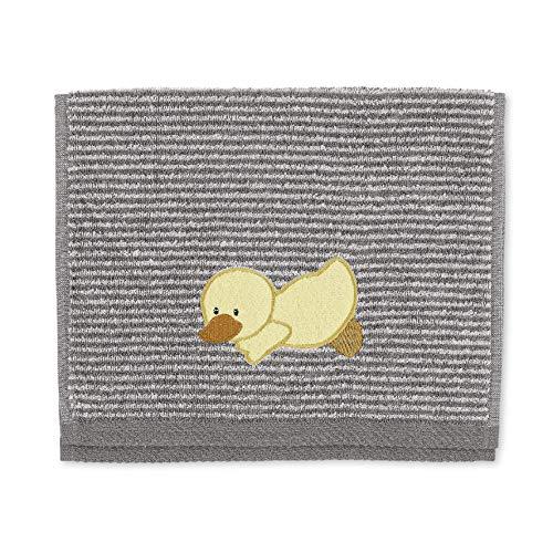 Sterntaler Serviette Éponge pour Enfants Edda le Canard, Âge : À Partir de 0 Mois, 50 x 30 cm, Gris